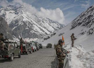 File image of Indian soldiers in Ladakh | By special arrangement