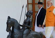 A file photo of Prime Minister Narendra Modi with his Nepalese counterpart K.P. Sharma Oli in New Delhi. | Photo: ANI/R. Raveendran