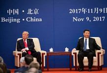 US President Donald Trump with China's President Xi Jinping in Beijing, 9 November 2017. | Colin G/Twitter