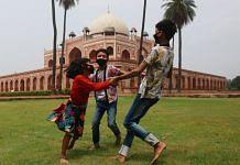 At the Humayun's Tomb children play in the garden | Photo: Manisha Mondal | ThePrint