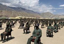 Indian armed forces' personnel during PM Modi's visit to Leh, 3 July | PTI