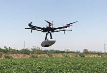 A drone operates to capture high-definition pictures of crops. | Bloomberg