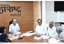 File image of former Maharashtra chief secretary Ajoy Mehta at Mantralaya | Twitter | @ShelarAshish