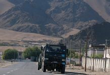 Army convoy moving towards eastern Ladakh from Leh on 30 June 2020 (representational image) | ANI