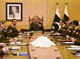 File image of the Pakistani military establishment, headed by Gen. Qamar Javed Bajwa | @OfficialDGISPR | Twitter