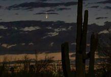 Comet NEOWISE captured on 6 July 2020, just before sunrise in Tucson | Credits: Vishnu Reddy | NASA