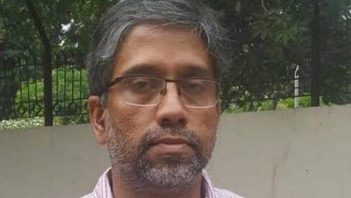 File photo of associate professor of Delhi University Hany Babu Musaliyarveettil Tharayil   Twitter