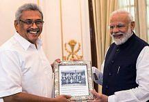 File image of Sri Lankan President Gotabaya Rajapaksa with Indian Prime Minister Narendra Modi | Photo: ANI