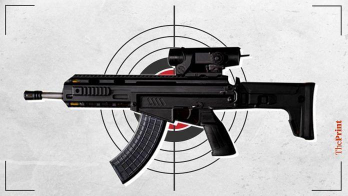 Image: An indigenous rifle by SSS Defence | Ramandeep Kaur | ThePrint