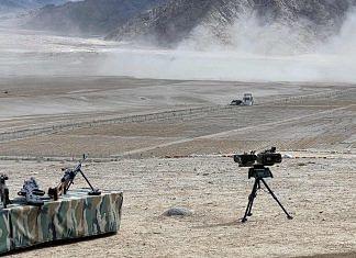 Representational image of military equipment in Ladakh | Photo: ANI