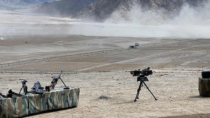 Representational image of military equipment in Ladakh | Photo: ANI