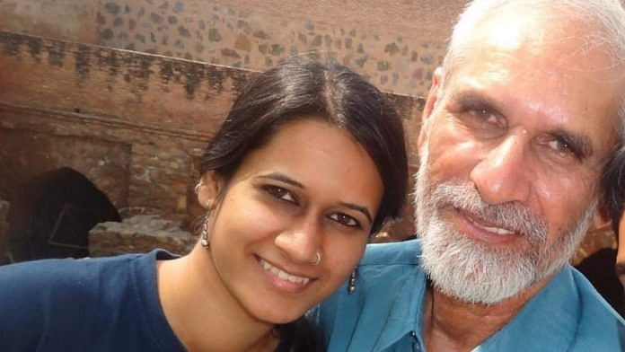 File photo | Natasha Narwal with her father Mahavir Narwal | By special arrangement