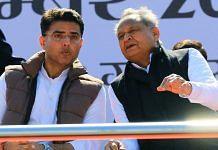 File image of former Rajasthan deputy CM Sachin Pilot (left) and CM Ashok Gehlot   Photo: ANI