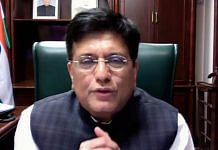 Commerce and Industry Minister Piyush Goyal addresses the US-India Business Council's virtual India Ideas Summit Tuesday | Photo: ANI
