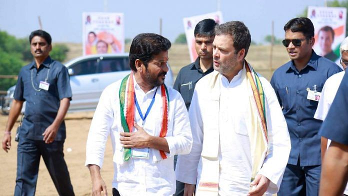 A file photo of Congress MP A. Revanth Reddy with former party president Rahul Gandhi   Twitter   @revanth_anumula