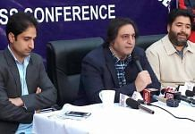 File photo of People's Conference leader Sajad Lone (centre) | jkpc.in/Facebook