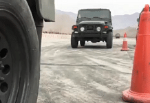 A video of Chinese PLA soldiers performing stunts in cars and military trucks has gone viral   Screengrab via Twitter