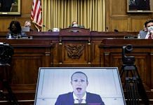 Mark Zuckerberg, chief executive officer and founder of Facebook Inc., speaks via videoconference during a House Judiciary Subcommittee hearing in Washington, D.C., US, on Wednesday, July 29, 2020 | Graeme Jennings | Washington Examiner | Bloomberg