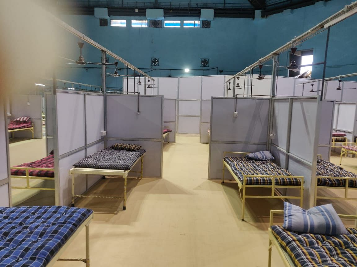 The Sawalaram complex that will now house 150 oxygen beds and 30 ICUs   Photo: Ananya Bharadwaj   ThePrint