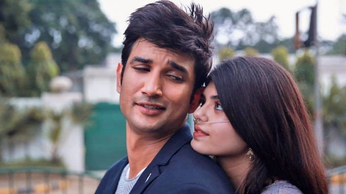 A still from Dil Bechara, starring Sushant Singh Rajput and Sanjana Sanghi | Twitter