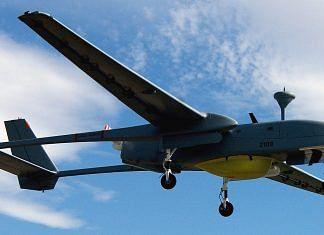 A Heron 1 UAV in flight