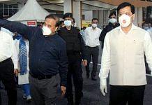 Assam Health Minister Himanta Biswa Sarma (left) and CM Sarbananda Sonowal | Photo: ANI