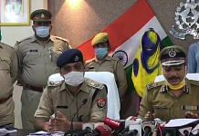 Kanpur IG Mohit Agarwal briefing the media on 24 July