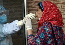 Covid-19 testing in Srinagar, Kashmir | Representational photo | ANI