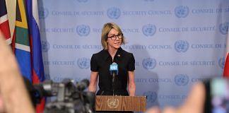 US Ambassador to the UN Kelly Craft addresses the media | Flickr