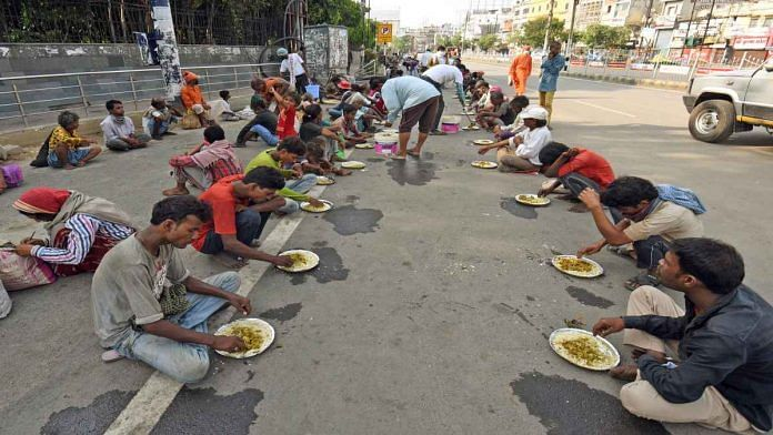 Volunteers serve food to the needy in Patna during the Covid-19 lockdown in May   Representational image   ANI