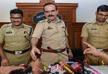 File image of Mumbai Police commissioner Param Bir Singh (centre) | PTI