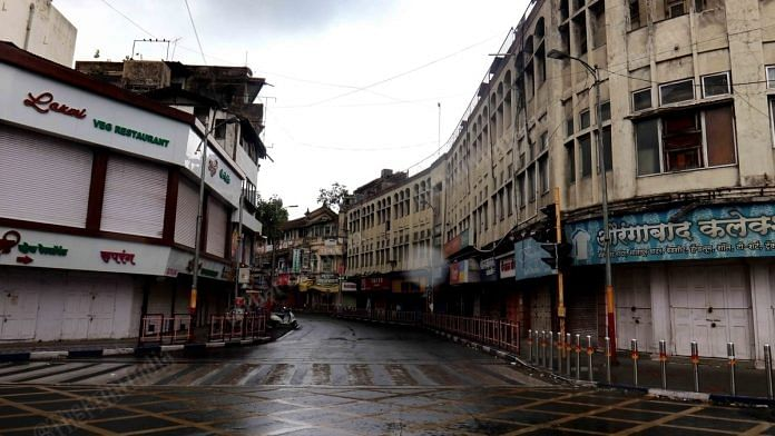 Shuttered markets in Pune. | Photo: Vasant Prabhu/ThePrint