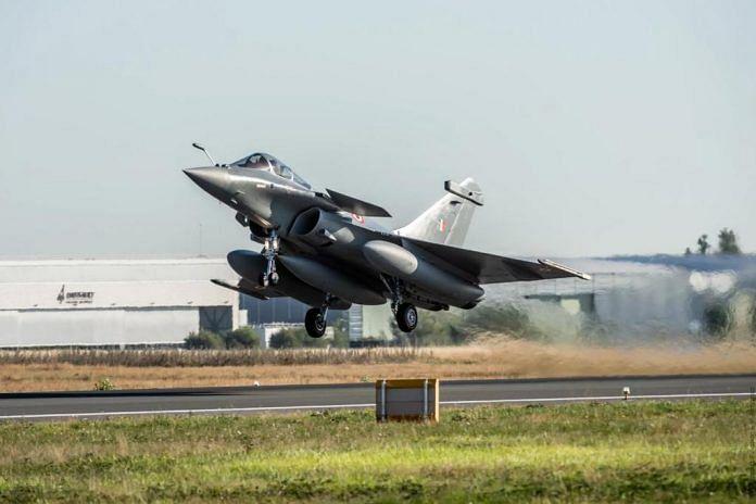 A Rafale taking off