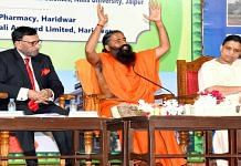 Patanjali Ayurved founder Baba Ramdev and CEO Acharya Balkrishna at the launch of Coronil on 23 June | ANI