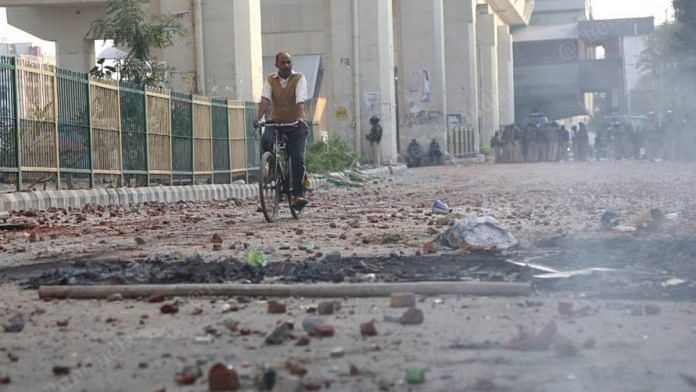 File photo depicting the aftermath of the riots that killed at least 50 people in Northeast Delhi this February | Manisha Mondal | ThePrint