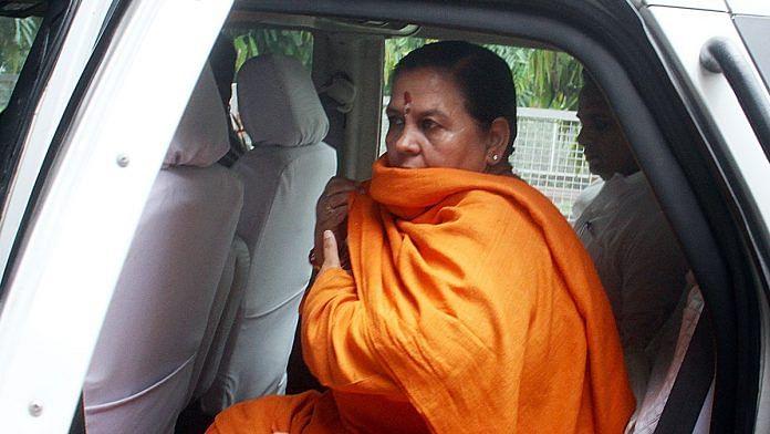 A file photo of BJP leader Uma Bharti. | Photo: ANI
