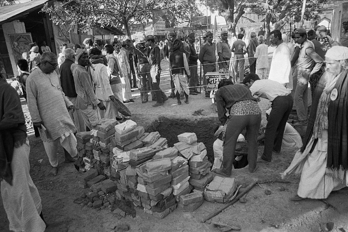 In July 1992, Karsevaks had gathered for a foundation laying ceremony of the proposed main gate Singhdwar at then disputed land of Babri Masjid   Photo: Praveen Jain   ThePrint