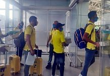 Players of Chennai Super Kings, including Mahendra Singh Dhoni captured on 21 August leaving for the United Arab Emirates from Chennai airport for IPL 2020   ANI Photo