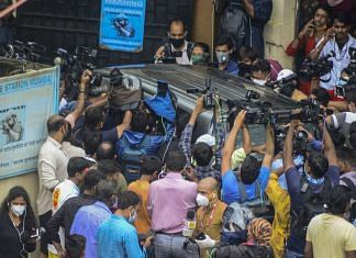File photo | Rhea Chakraborty and her brother Showik arrive for questioning by CBI in the Sushant Singh Rajput case, at Santacruz, Mumbai, 28 Aug | PTI Photo