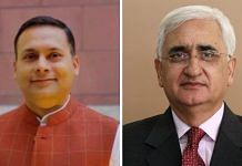File photo | Amit Malviya (L) and Salman Khurshid (R) | Commons