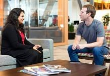 Facebook India policy head Ankhi Das with company founder Mark Zuckerberg | Facebook: Ankhi Das