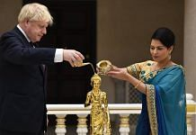 This photo of UK PM Boris Johnson and Home Secretary Priti Patel was posted to Twitter on 7 August | Facebook