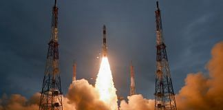 File photo of ISRO's PSLV-C47 lifting off with observation satellite Cartosat-3 and 13 nano-satellites of the US, from Sriharikota in Andhra Pradesh | PTI
