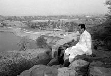 File photo of Chandra Shekhar at his Bhondsi farmhouse | Praveen Jain/ThePrint