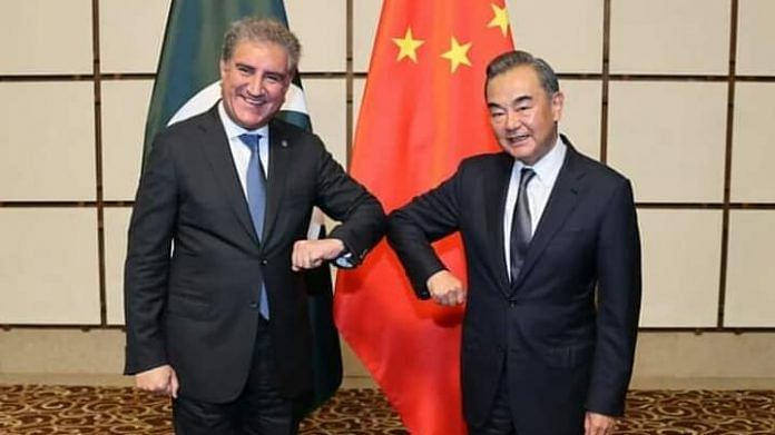 Chinese Foreign Minister Wang Yi and his Pakistani counterpart Shah Mahmood Qureshi at annual strategic dialogue | Twitter