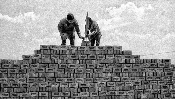 Bricks bearing the inscription 'Shri Ram' were brought to Ayodhya from a village on the Delhi-Haryana border, for the Ram Janmabhoomi temple   Photo: Praveen Jain   ThePrint