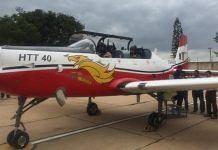 IAF chief R.K. Bhadauria takes a sortie in HTT-40 last November | Twitter | @HALHQBLR