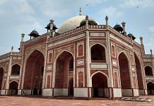 Humayun's tomb, one of Delhi's most popular historical monuments, is deserted owing to the Covid-19 pandemic Photo: Shubhangi Misra | ThePrint