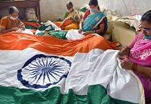 Representational image | Women stitch the Indian national flag for Independence Day, at Khadi Gramodyog Samyukta centre, Hubli | PTI