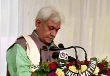 Manoj Sinha takes oath as Lieutenant Governor of Jammu and Kashmir Friday | Photo: ANI